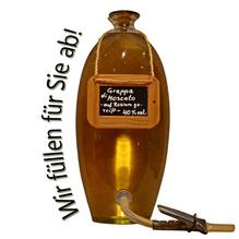Laux 'Grappa di Moscato auf Rosinen gereift' 40 % vol, in verschiedenen Flaschenformen und Mengen!