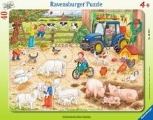 Ravensburger 63321  Rahmenpuzzle Auf dem großen Bauernhof 40 Teile