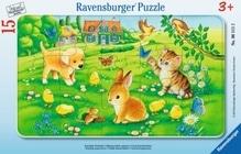 Ravensburger 61112  Rahmenpuzzle Kuschlige Tierkinder 15 Teile