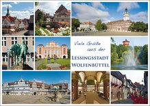 WF Postkarte Grüße aus der Lessingstadt