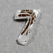 Wachszahl '7' silber, 8mm