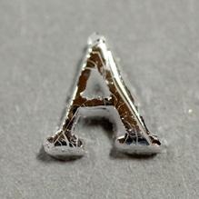 Wachsbuchstabe 'A' silber, 8mm