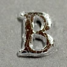 Wachsbuchstabe 'B' silber, 8mm