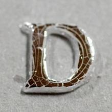 Wachsbuchstabe 'D' silber, 8mm