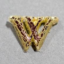 Wachsbuchstabe 'W' gold, 8mm