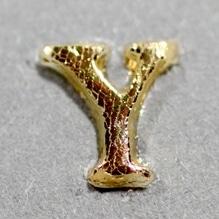 Wachsbuchstabe 'Y' gold, 8mm