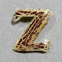 Wachsbuchstabe 'Z' gold, 8mm