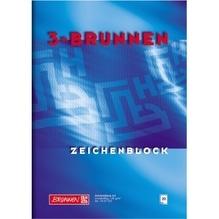 Zeichenblock A4 120g/m² weiß zweiseitig verleimt 20Bl/Bk