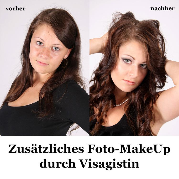 GUTSCHEIN für ein Foto-MakeUp durch Visagistin zusätzlich zu einem Fotoshooting für 1 Person