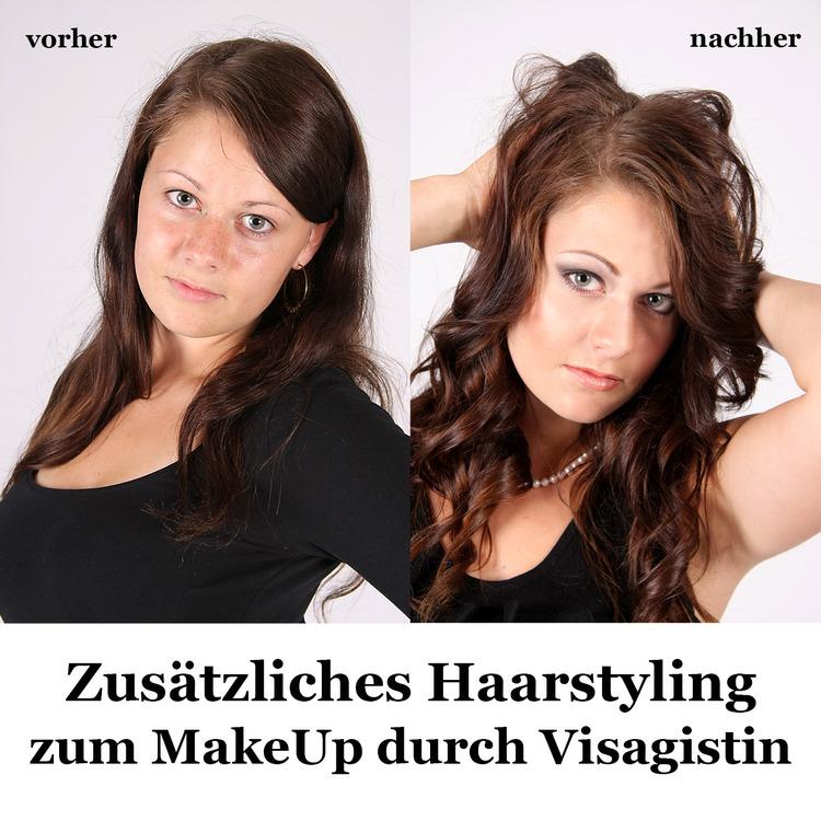 GUTSCHEIN für ein Haarstyling durch Visagistin zusätzlich zu einem Fotoshooting für 1 Person