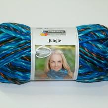 Jungle 1 Loopschal = 1 Knäuel Farbe 'aqua color'