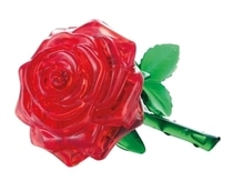 3D Crystal Puzzle - Rose rot 44 Teile