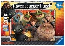 Ravensburger 128129  Puzzle Dreamworks Dragons Hicks, Astrid&die Drachen 200T.