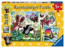 Ravensburger 92093  Puzzle Unterwegs mit dem Maulwurf 3 x 49 Teile