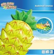Splash & Fun Badeinsel Ananas, 154x88x21cm