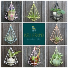 Himmeli, hanging planter, Hängeampel, Tillandsienhalter, Luftpflanzen, Mobile, geometrische Ornamente