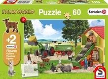 Schmidt Spiele Kinderpuzzle Schleich Heueinfahrt auf dem Bauernhof 60 Teile