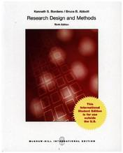Research Design and Methods | Bordens, Kenneth S.; Abbott, Bruce B.