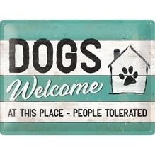 PfotenSchild - Dogs Welcome 30x40cm