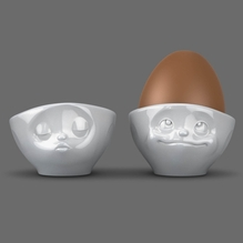 Eierbecher 'küssend + verträumt' weiß, 58-Products 015101