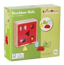SpielMaus Holz Steckbox 15 Steine