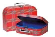 Koffer im Schottenmuster 2er Set
