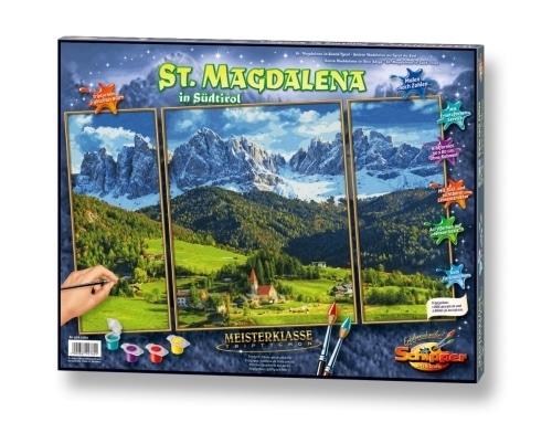 Schipper Malen nach Zahlen - St. Magdalena in Südtirol Triptychon 50x80 cm
