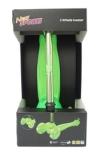 New Sports 3-Wheel Scooter, grün, 121 mm, 50 kg