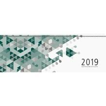 ZETTLER Tischkalender 126-0013 42x14,5cm 1W/2S 120S. grün