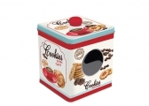Keksdose 'Coffee & Cookies blue' mit Fenster