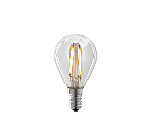 LED- Lampe Klar, Filament, Tropfenform, Kugel