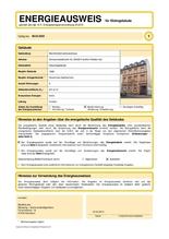 Energieausweis: Energiebedarfsausweis bis 6 Wohneinheiten