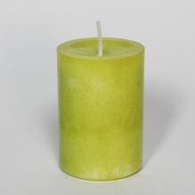 durchgefärbte Stumpenkerze 'limone' 90 x 60 mm