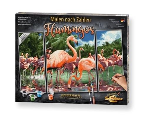 Schipper Malen nach Zahlen Flamingos (Triptychon) 50 x 80 cm