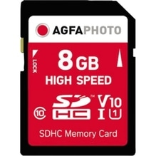 AgfaPhoto Speicherkarte SDHC 10425 High Speed Class 10 UHS-1 8GB