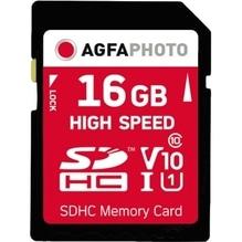 AgfaPhoto Speicherkarte SDHC 10426 High Speed Class 10 UHS-1 16GB