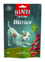 Rinti Extra Bitties Ente mit Ananas und Kiwi 12x100g