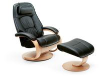 Relax-Sessel-Set  'Admiral' mit Hocker