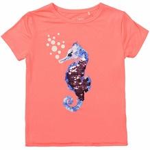 Staccato T-Shirt Seepferdchen Wendepailletten