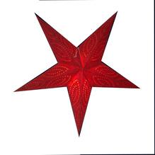 Leuchtstern rot 5 Zacken