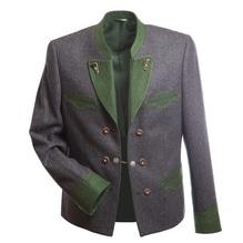 Gamsfrack, Gamsrock in der Farbe grau / grün,  Salzkammergut Oberösterreich passt zur kurzen Hirschlederhose. Bei Lederbekleidung Paschinger kaufen.