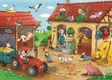 Ravensburger 75607  Puzzle Fleißig auf dem Bauernhof 2 x 12 Teile