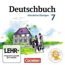 Deutschbuch 7. Schuljahr Gymnasium. Übungs-CD-ROM zum Arbeitsheft. Östliche Bundesländer und Berlin