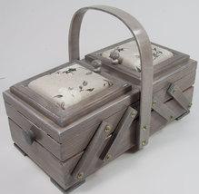 Nähkasten/Nähkorb in grau,   32x10,5x15  cm (BxHxT)