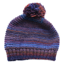 Damen Strickmütze Ballonmütze Wolle PAC Mix dunkel Jeans 81879041