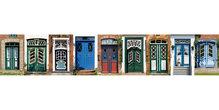 Panoramapostkarte Türen