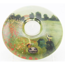 Gilde Teelichthalter Dreamlight Field of Poppies 13 cm 71023-6