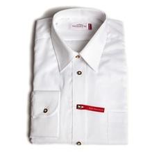 Hemd mit Hirschhornknöpfen, weiß, bügelfrei, Trachtenhemd Langarm, in Gmunden bei Lederbekleidung Paschinger kaufen