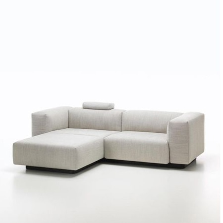 vitra Soft Modular Zweisitzer Sofa mit Ottoman
