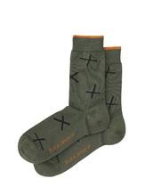 Nudie Jeans Socks 'Cross' grün Socken